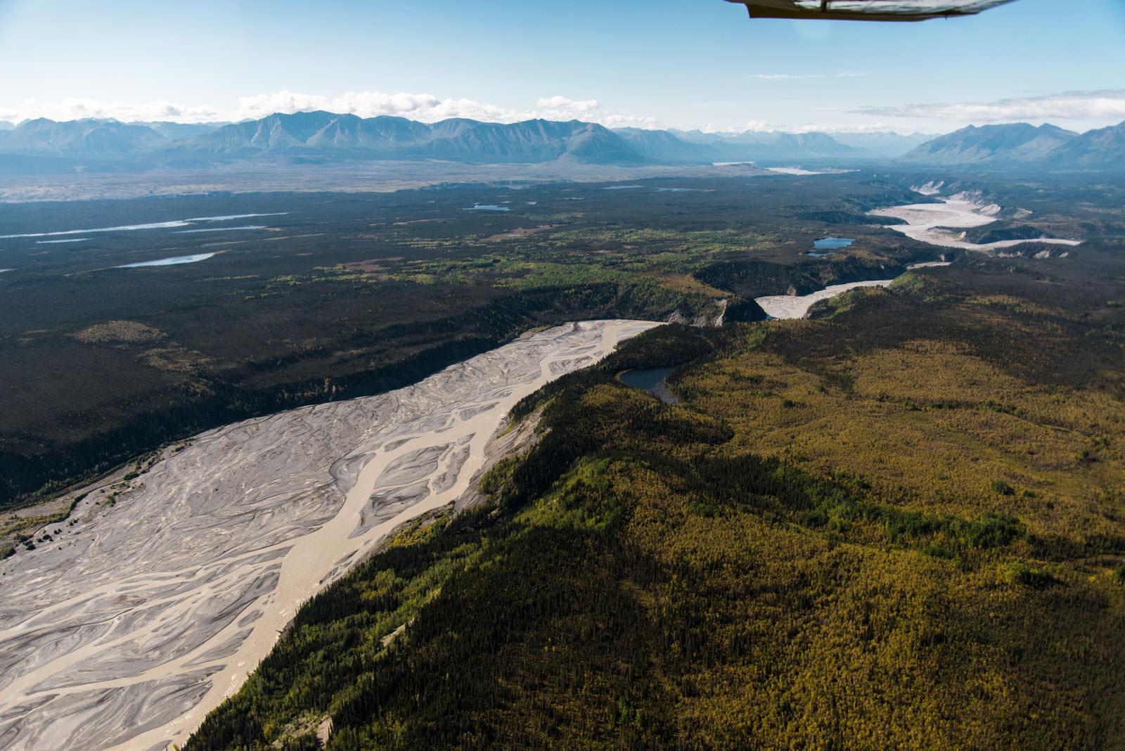 Bagley Icefield - University Range Tour:  Braided River