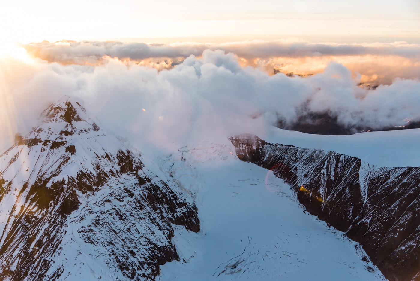 Jewels of the Wrangells Tour: Golden Hour Over Mountain Peaks