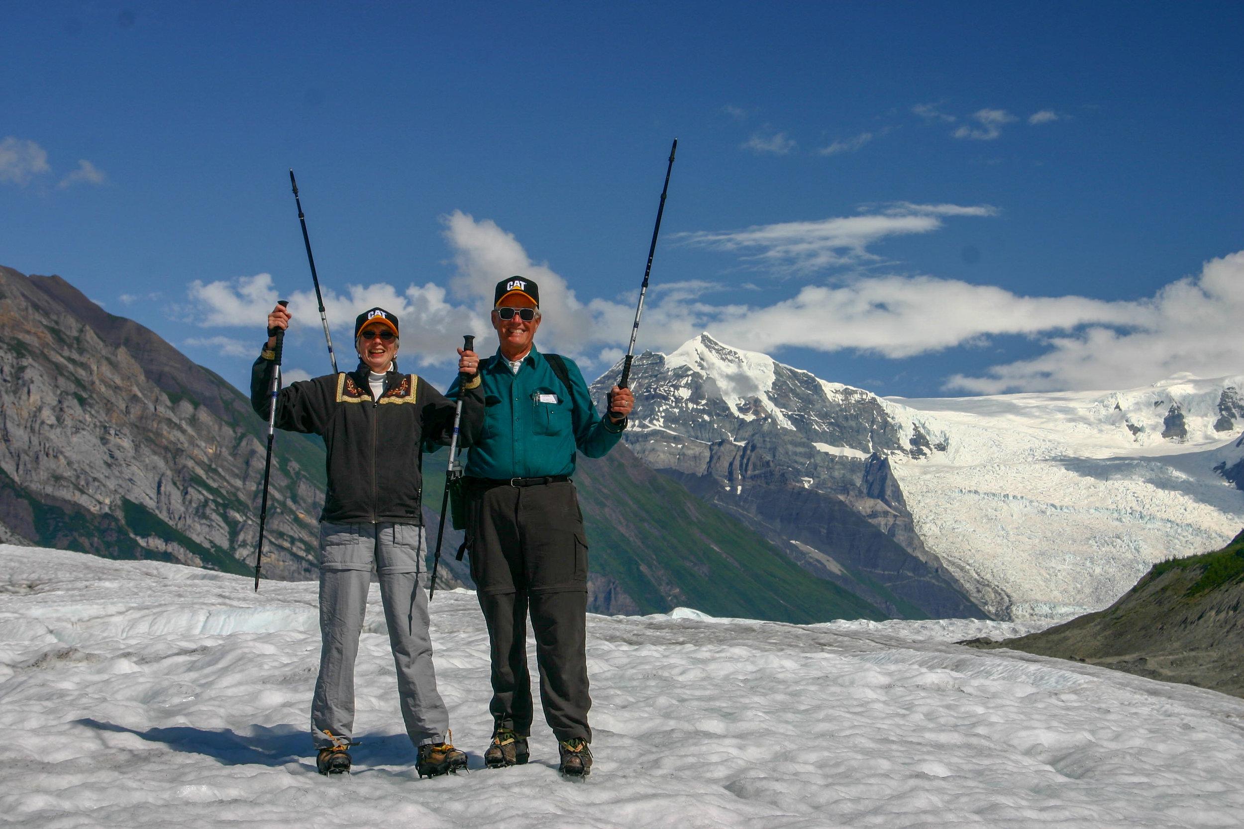 Glacier Adventure Day-Trip: Happy Hiker Couple