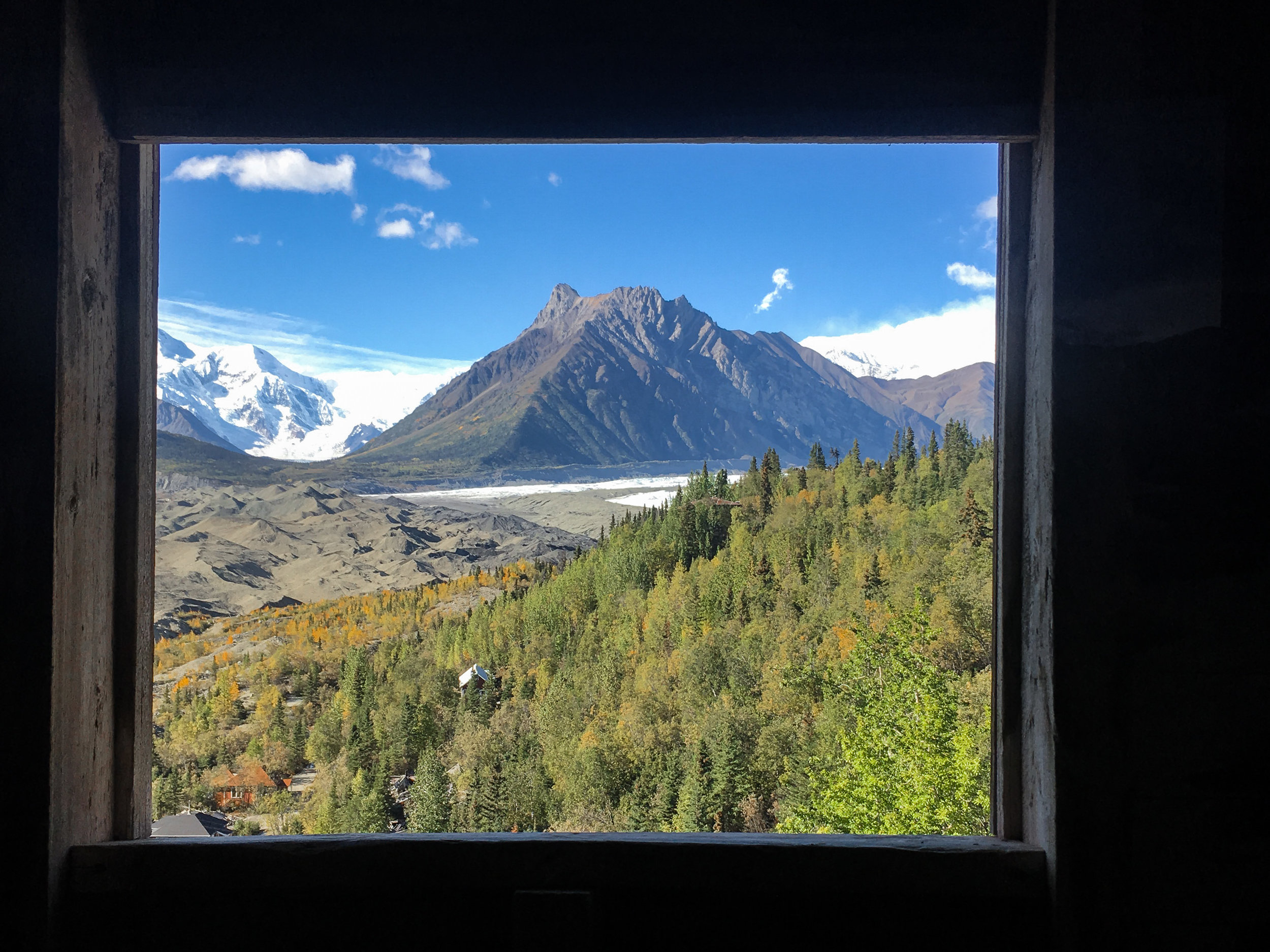 Historic Day-Trip: Kennecott Mill Building, View of Kennicott Glacier, Donoho Peak, and Root Glacier