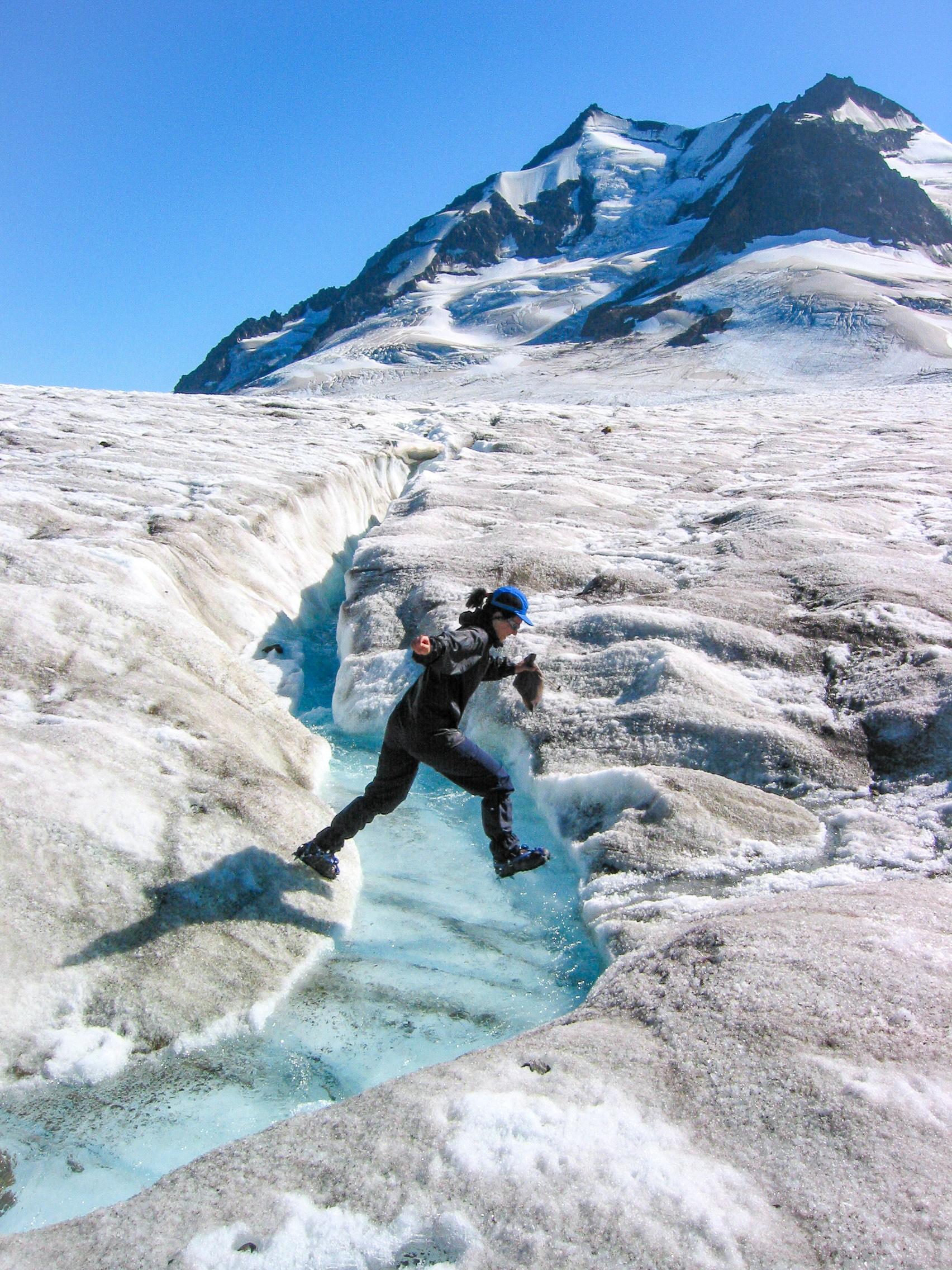 Glacier Adventure Day-Trip: Root Glacier Stream Crossing