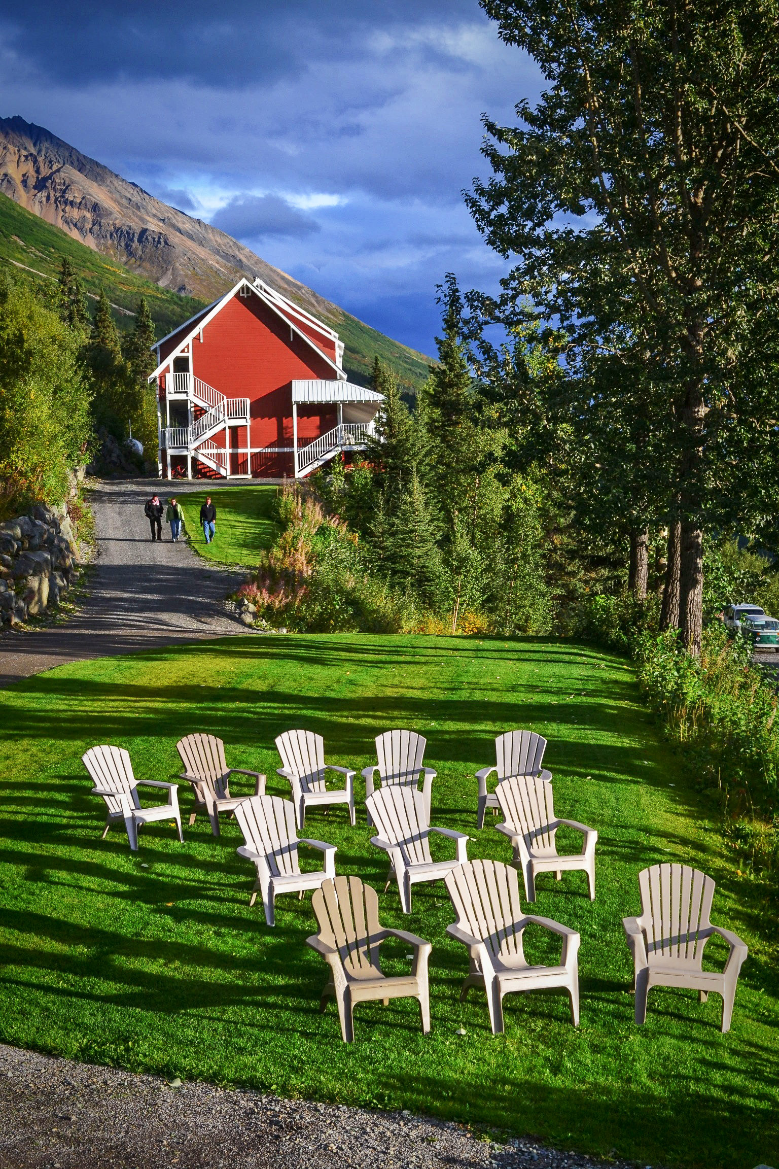 Historic Day-Trip: Kennicott Glacier Lodge Lawn - Great with a Beer or Wine in the Afternoon