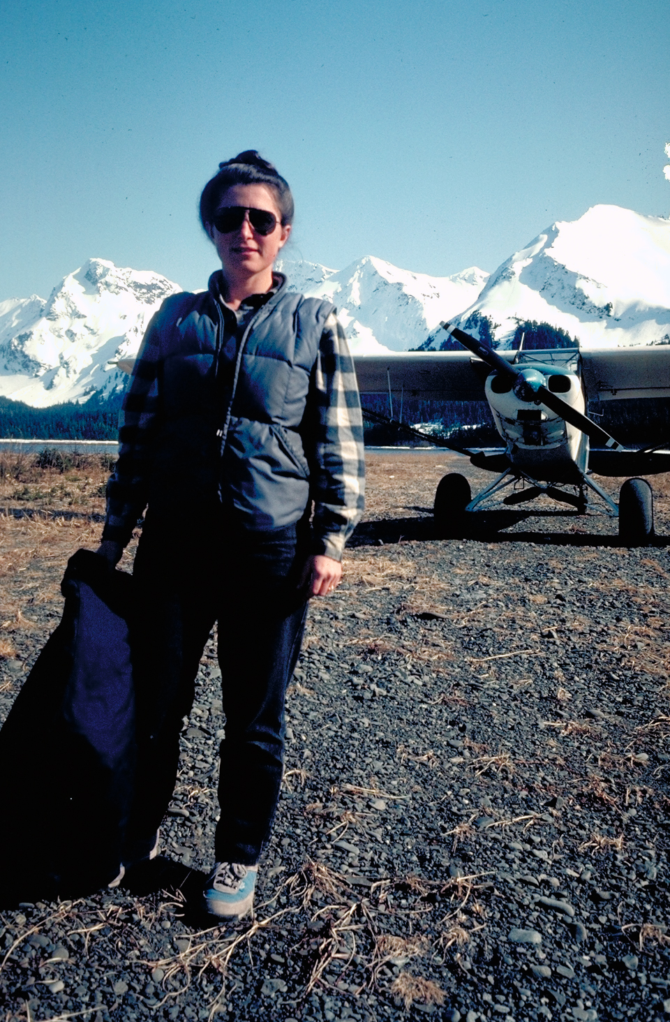 Founder of Wrangell Mountain Air, Natalie Bay with their super cub.