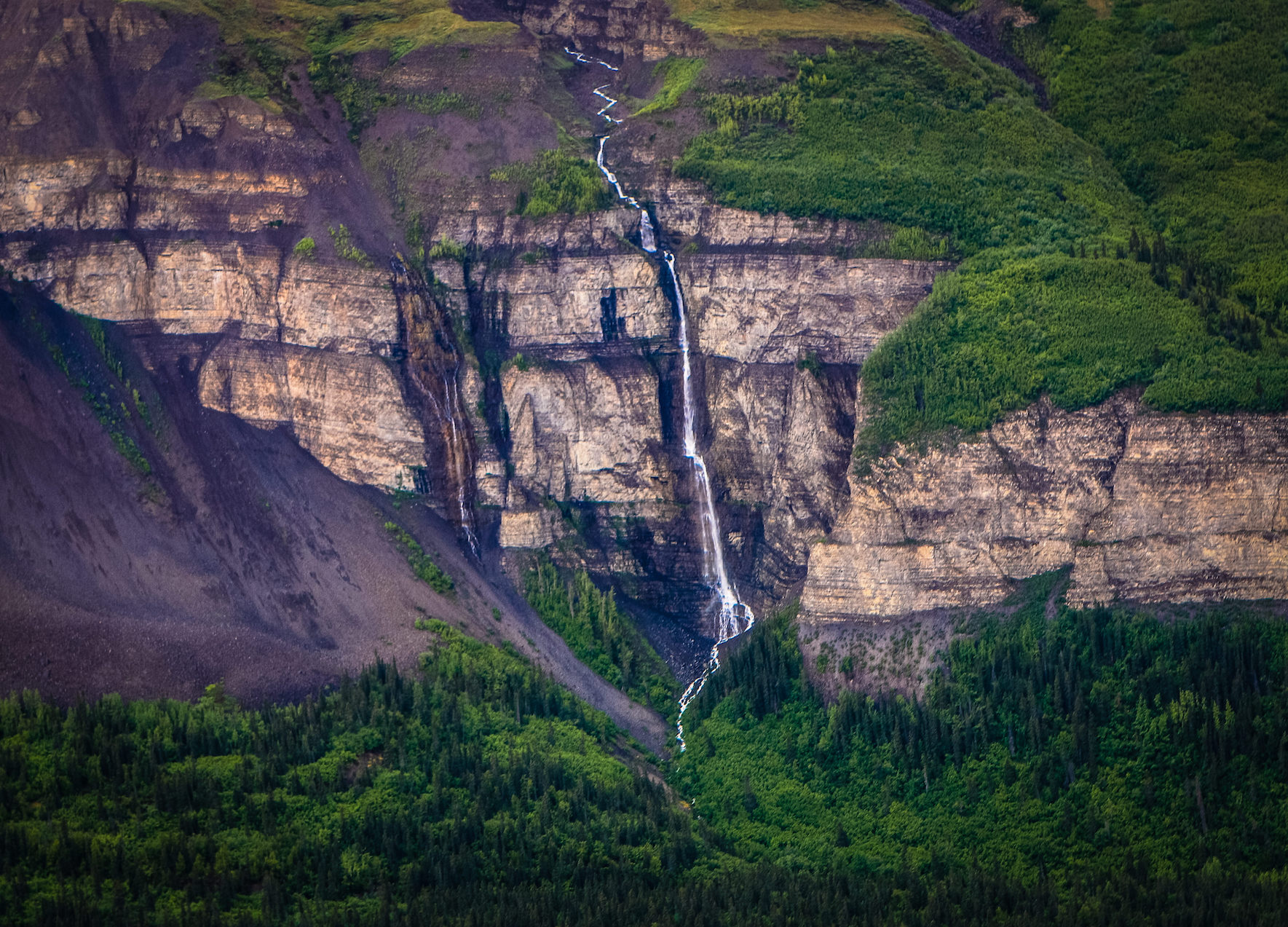 Jewels of the Wrangells Tour: Nizina Waterfalls