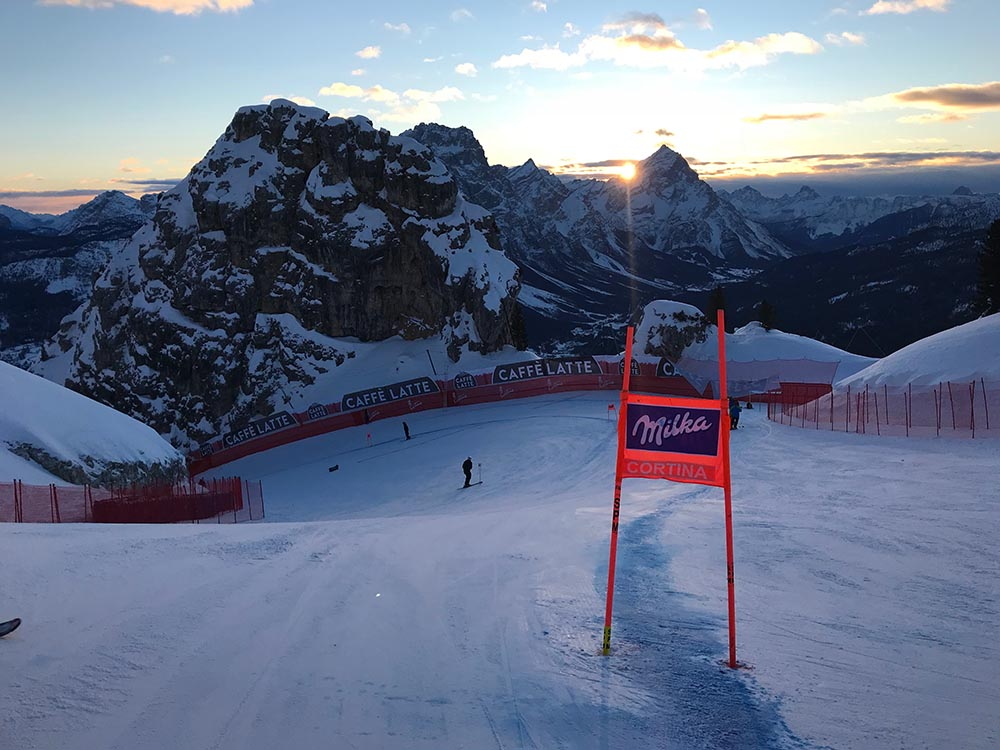 From the race track in Cortina, Italy.