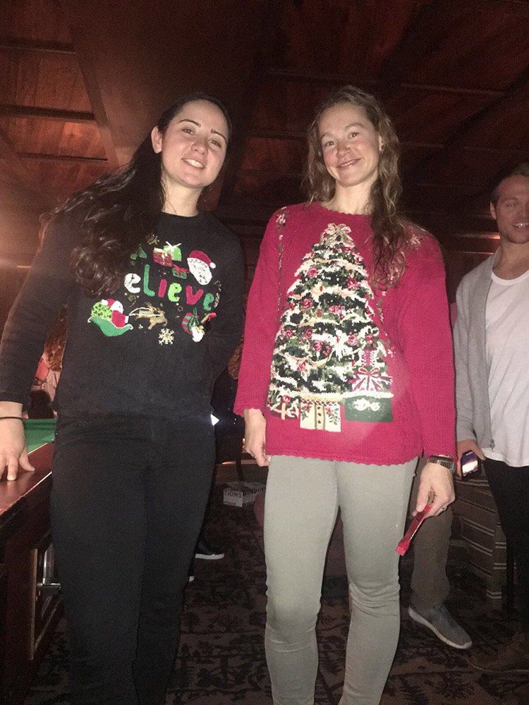 Laurenne & I rockin' our ugly sweaters