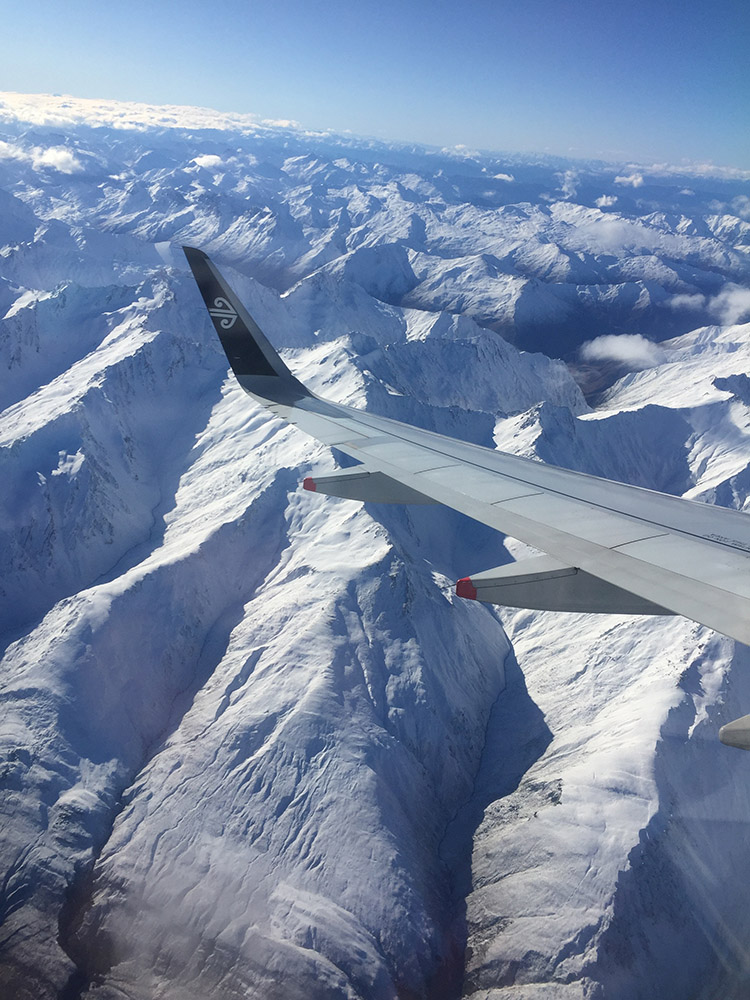 Gorgeous view flying into New Zealand!