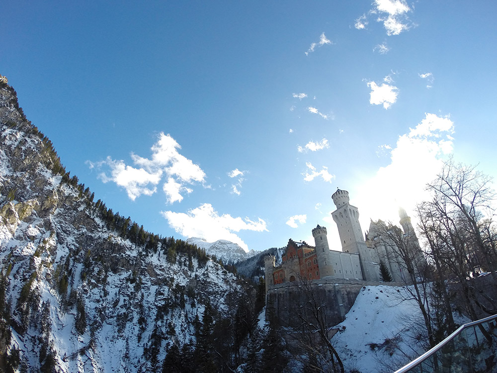 Neuschwanstein Castle in Bavaria, Germany. This castle is what Walt Disney replicated the infamous Disney Castle from!