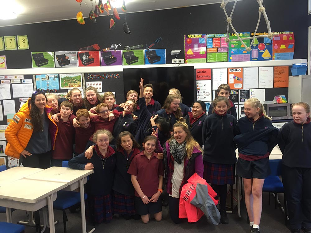 Hanging out with the kids of St. Joseph's School in Queenstown!