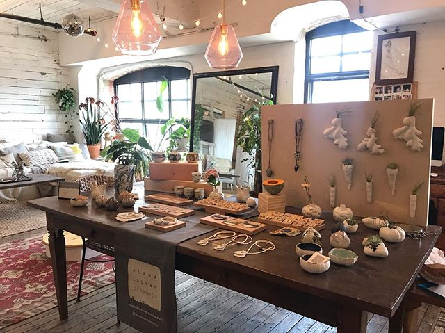 Here in Studio 325 at 67 West Street Brooklyn for #greenpointopenstudios this weekend. Come say hi! Have a drink and a snack and chat about ceramics with me. Here til 6ish and back tomorrow 12-6  #handmade #porcelain #oneofakind #ceramicjewelry #ceramicplanters #organic #earthy #minimal
