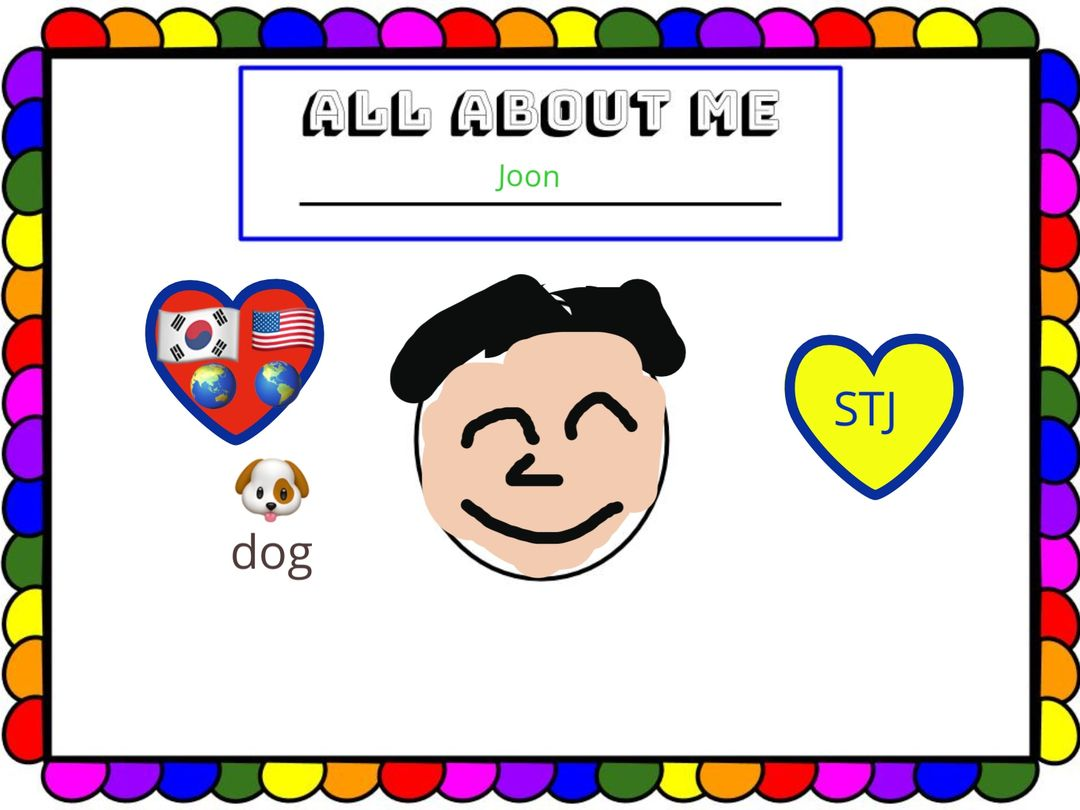 "2nd grade ""All About Me"""