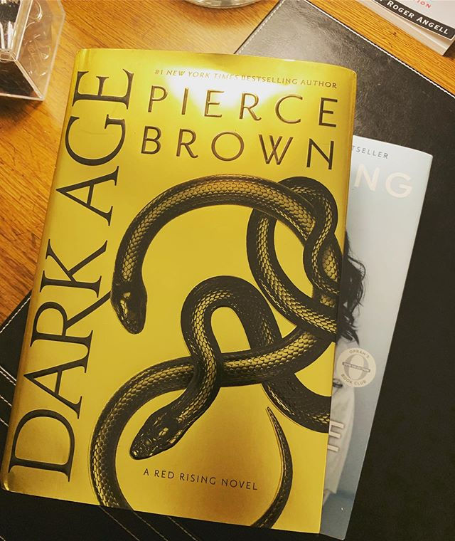 TFW you've got homework and a government to help run but @piercebrownofficial's #DarkAge just came in the mail 😬🤗🙌🏾