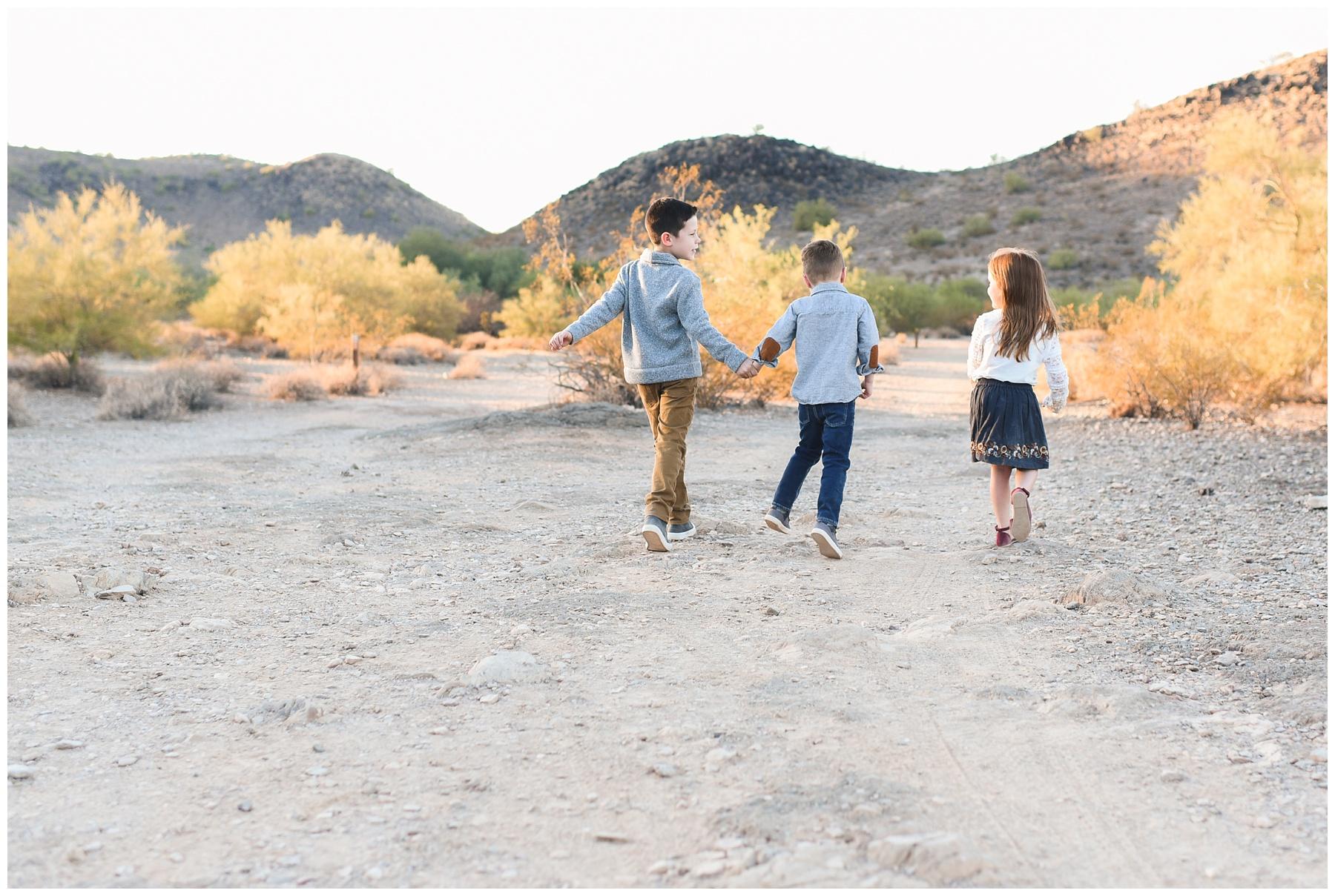 Kids skipping away   Phoenix Lifestyle Family Portraits