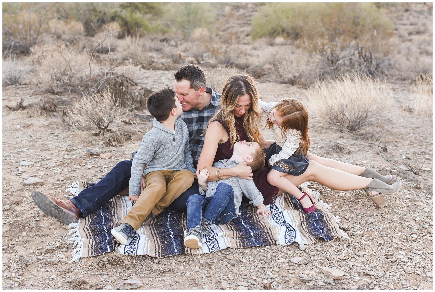 Desert lifestyle family shot   Phoenix Family Photography