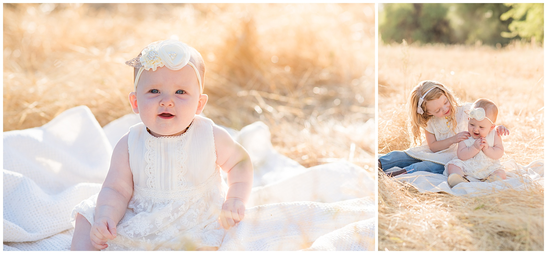 Golden hour child portraits in wheat field | SweetLife Photography