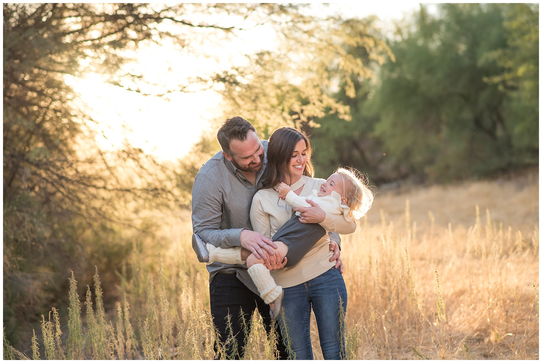 Outdoor family photo in a wheat field in Phoenix, AZ | SweetLife Photography