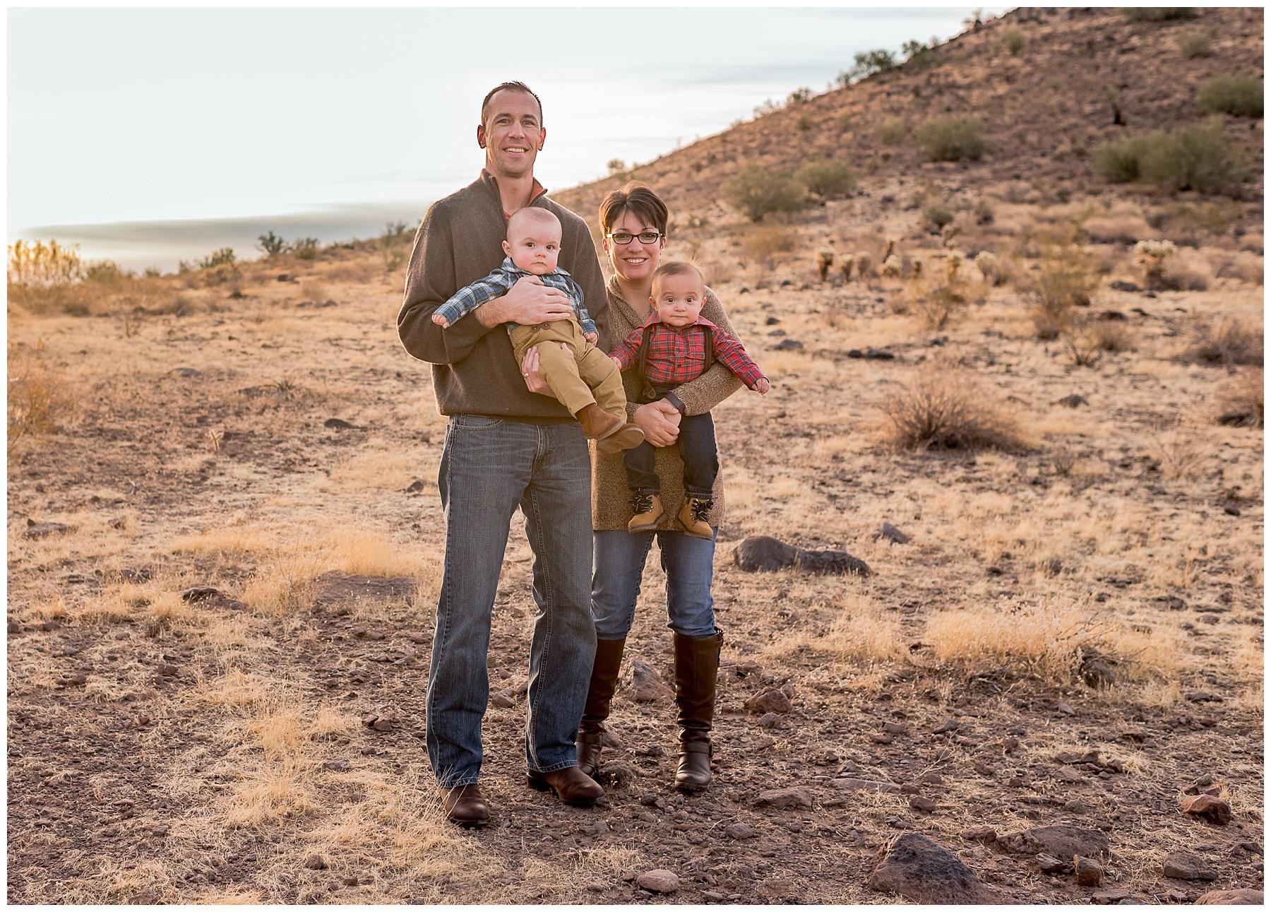 Phoenix family sunrise photo