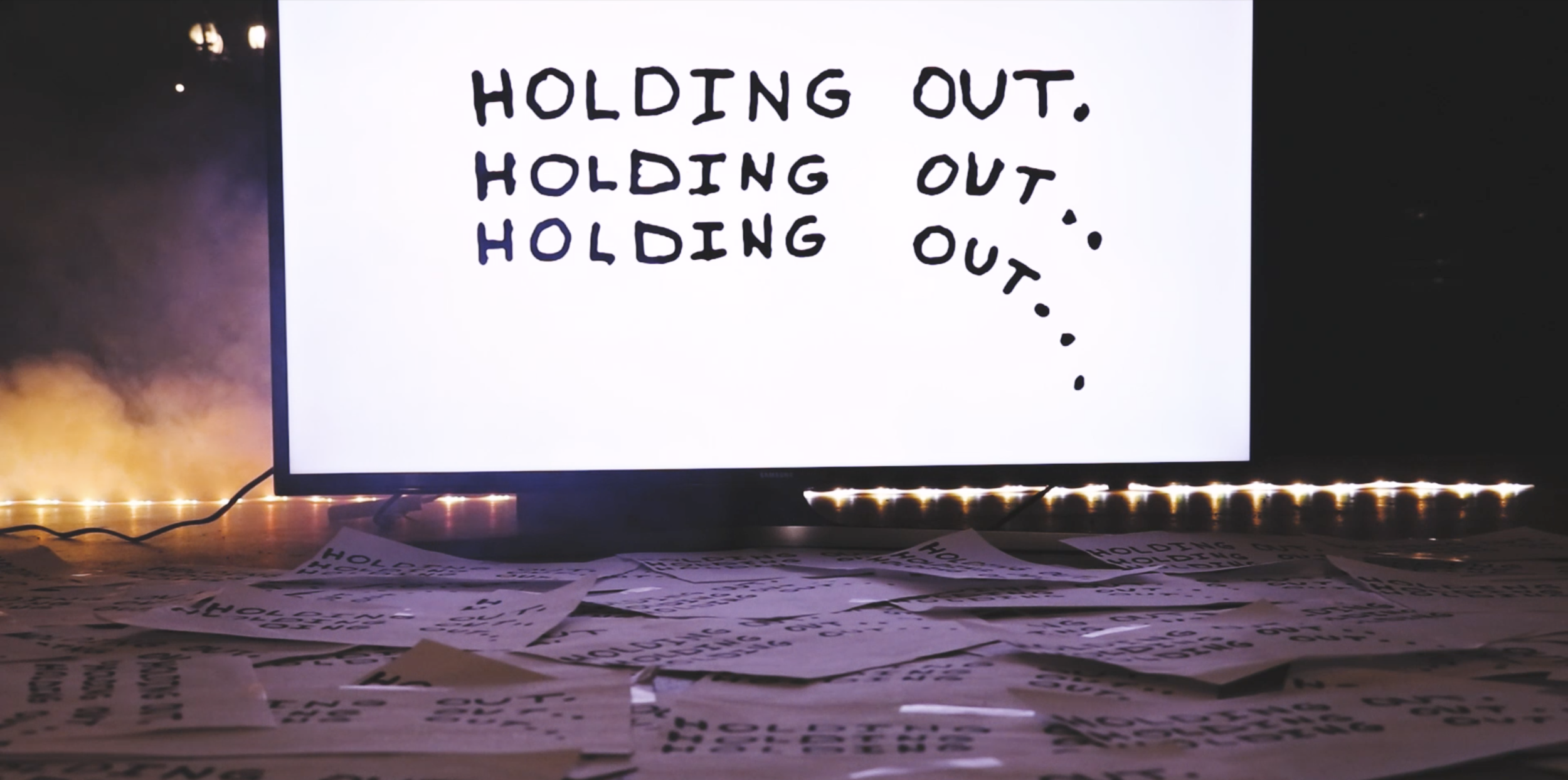 'Holding Out' Lyric Video Shoot