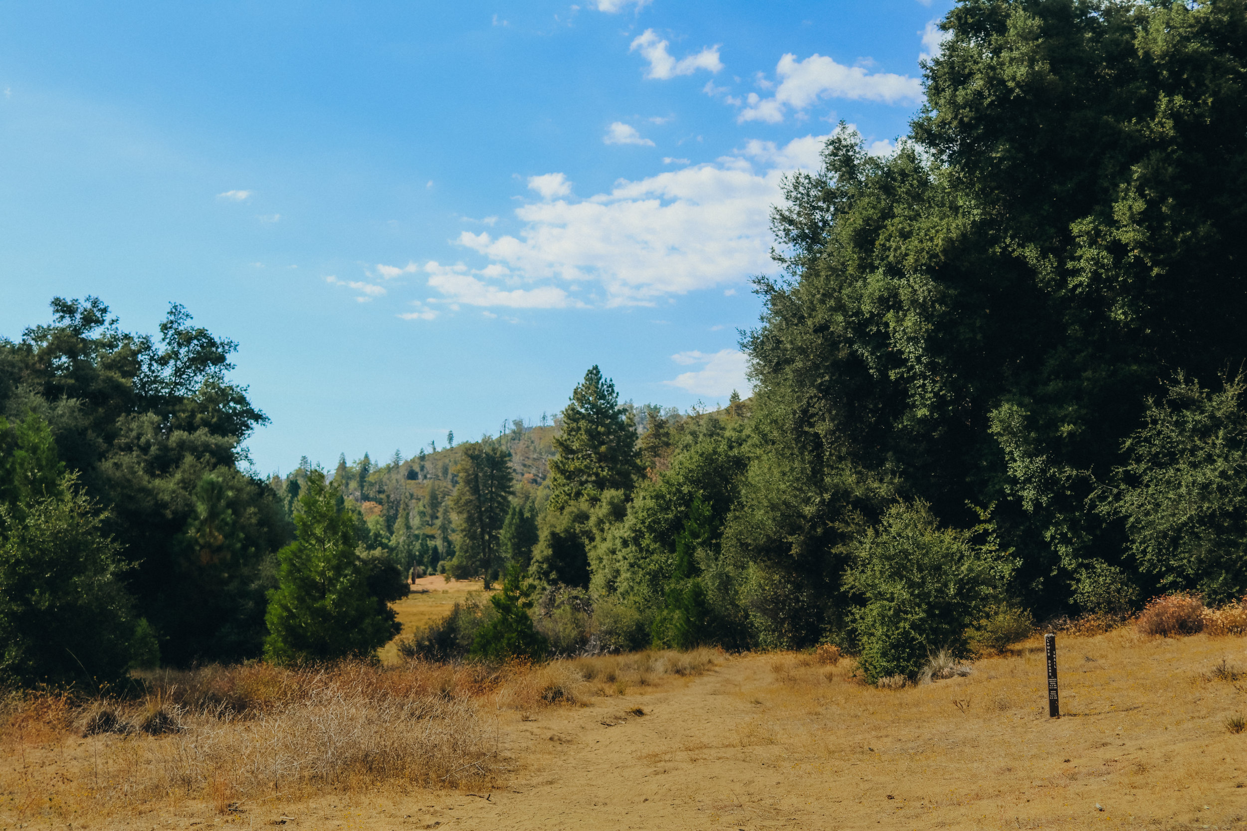 The valley on our trail at Mount Palomar