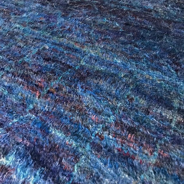 Look what I just found. The color in this rug is hypnotizing. If you a fan of indigo it will haunt you at first sight. TP 8.4 x 9.7