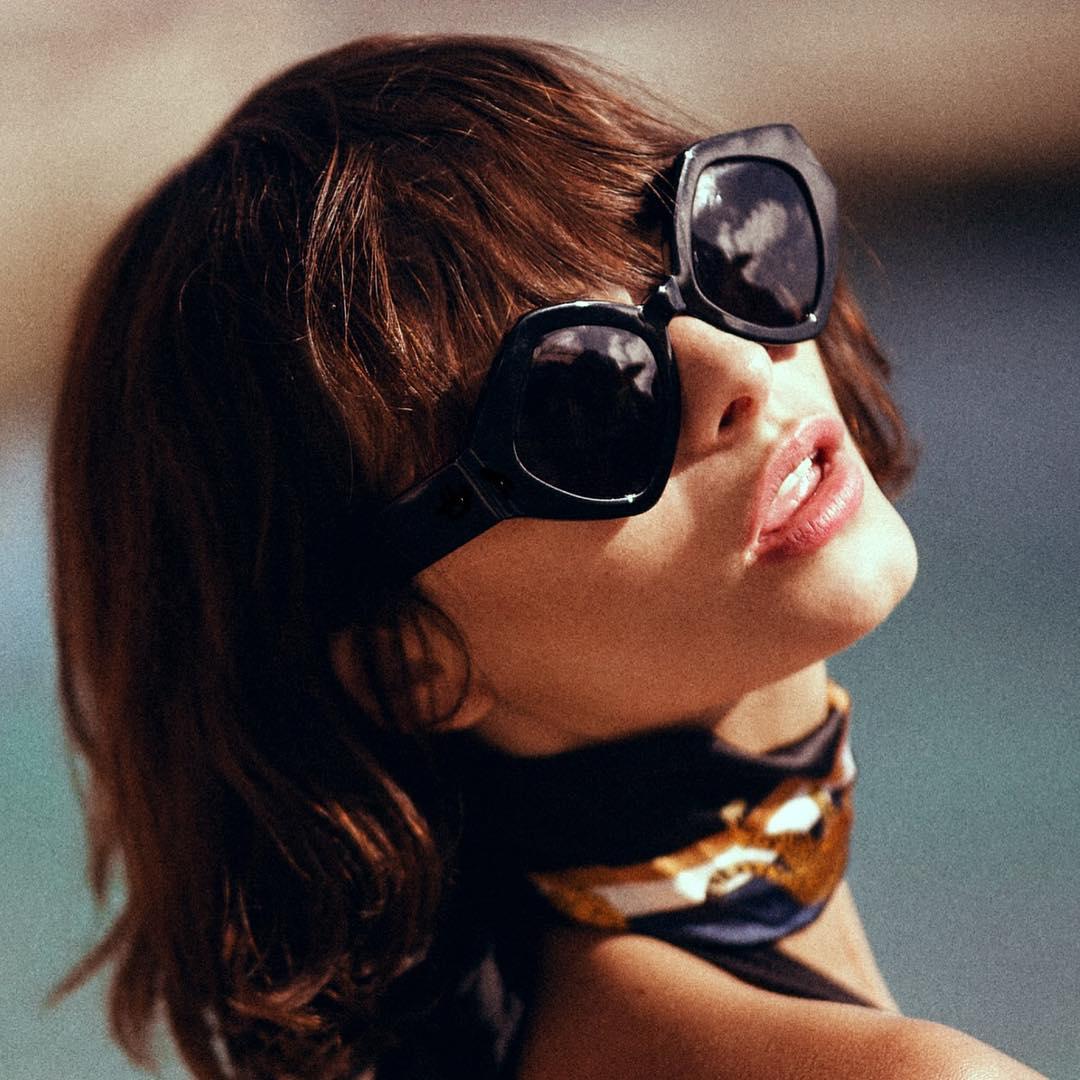 Image by Amberly Valentine: Taylor LaShae wearing The Romeo & Juliet in black, via @paredeyewear