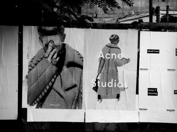 Posters on wall; Chelsea, New York.