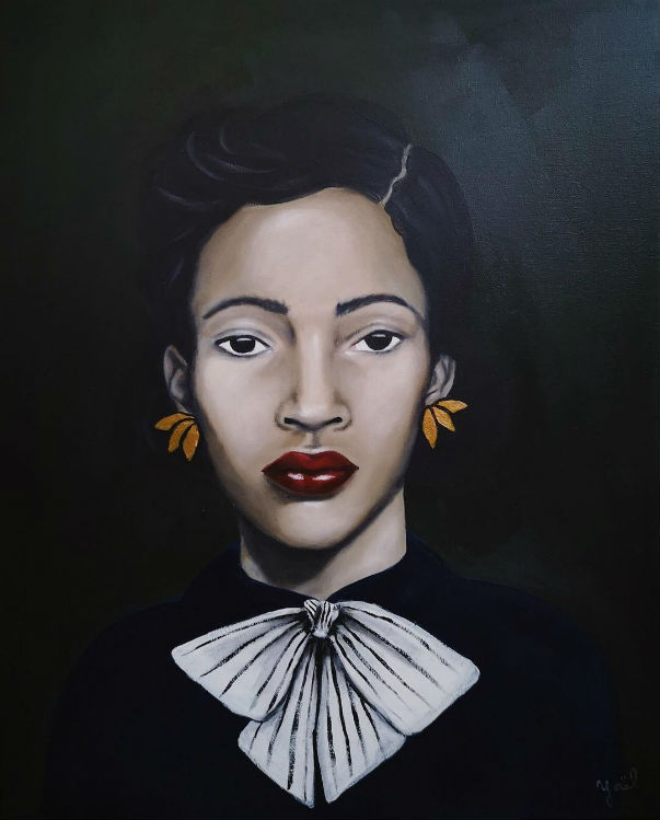 'LINA', Acrylic on canvas by ©  Yaël Hupert , courtesy of the artist