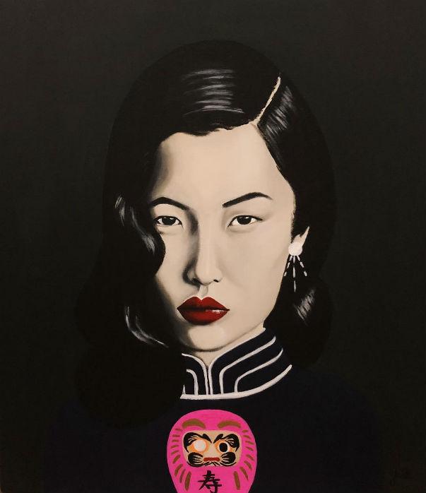 'LIU', Acrylic on canvas by ©  Yaël Hupert , courtesy of the artist
