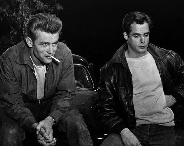James Dean and Corey Allen in 'Rebel Without a Cause'