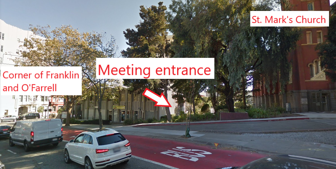 ISF meeting location on the corner of O'Farrell and Franklin streets