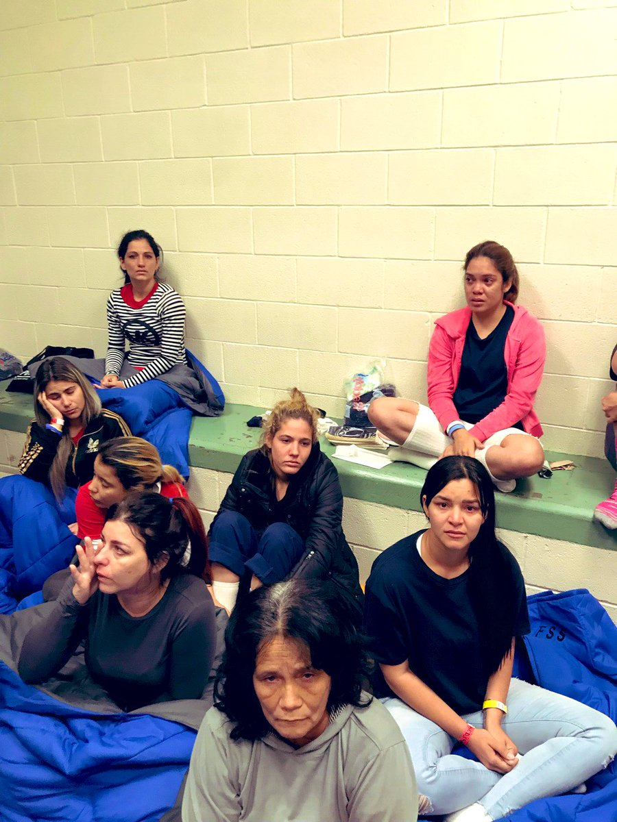 Photo of women in one facility, taken by Rep. Castro (TX-20).