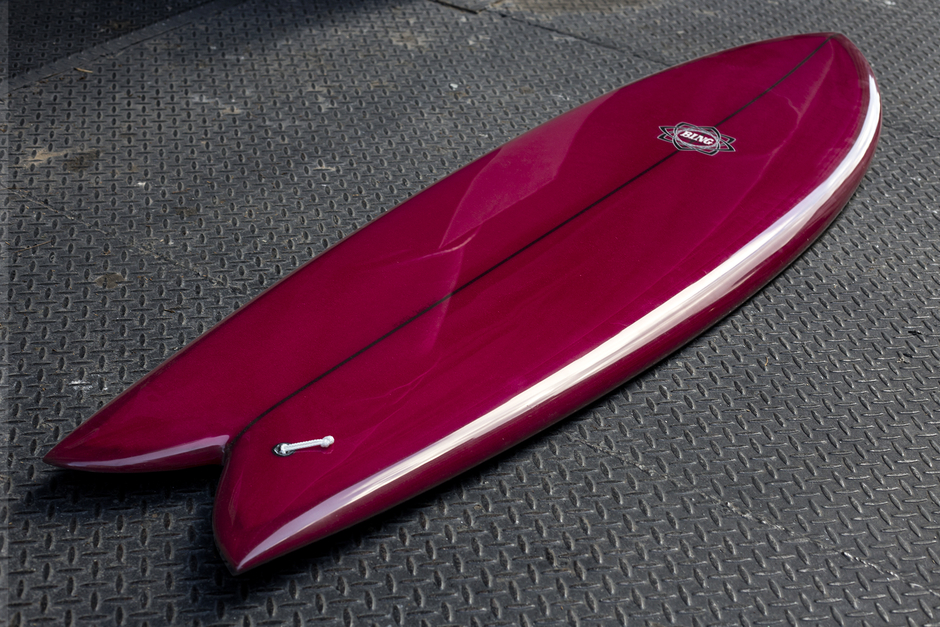 Surfing NZ Bing Twin Fin Fish Surfboard Rental