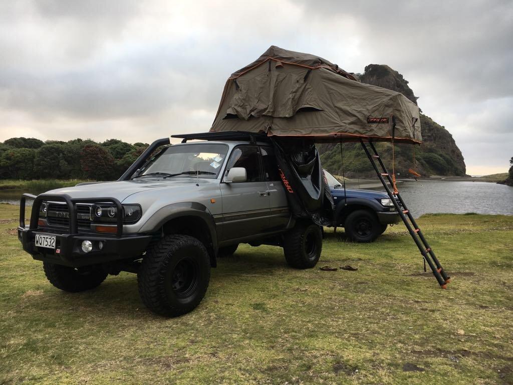 Toyota Landcruiser Camper Rental New Zealand Quiver South 4wd Camper Rentals New Zealand Overlanding Tourer Rooftop Tent Hire Nz