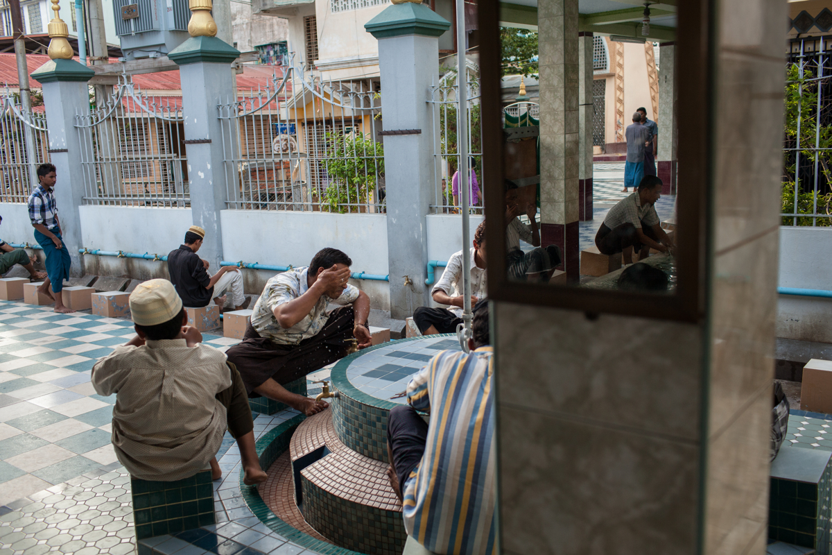 June 07, 2013 - Mandalay, Myanmar. Muslim prepare for prayer at the Joon Mosque in central Mandalay. © Nicolas Axelrod / Ruom