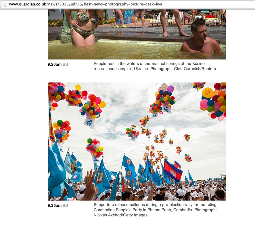 Nicolas Axelrod: The Guardian http://www.guardian.co.uk/news/2013/jul/26/best-news-photography-picture-desk-live