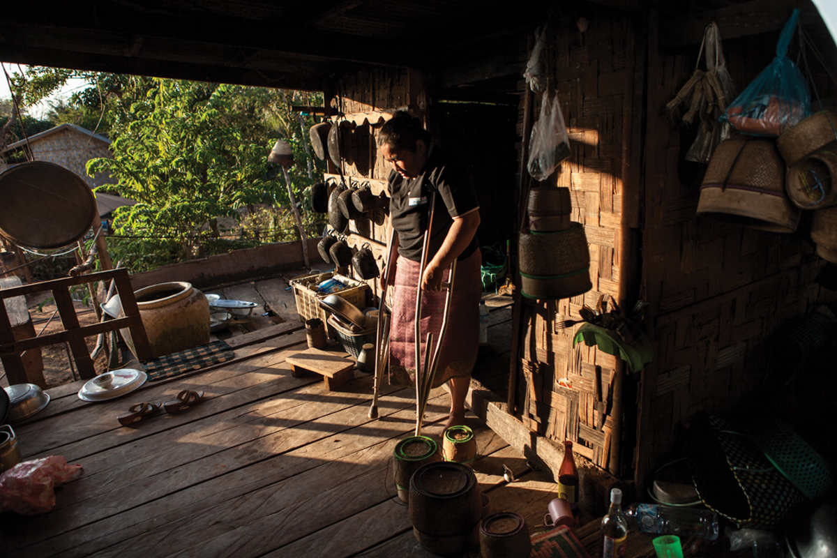 Jan 20, 2013 - Savannakhet, Laos. Chantavah Podbouly (53), UXO victim and Ban Advocate, Sepon town. Handicap International � Nicolas Axelrod for HI