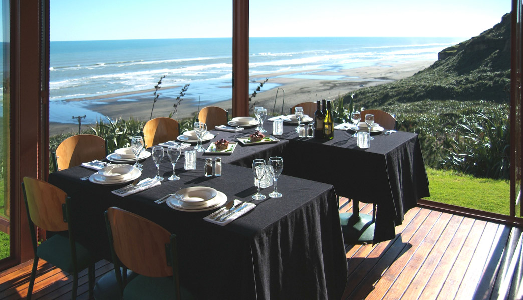 Castaways resort table overlooking ocean.jpg
