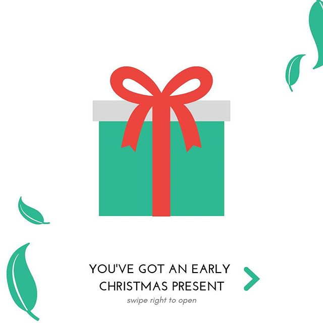 Let us be the first to give you a Christmas present. ❤️ // Redeem in-store or online! // #morristown #nj #newjersey