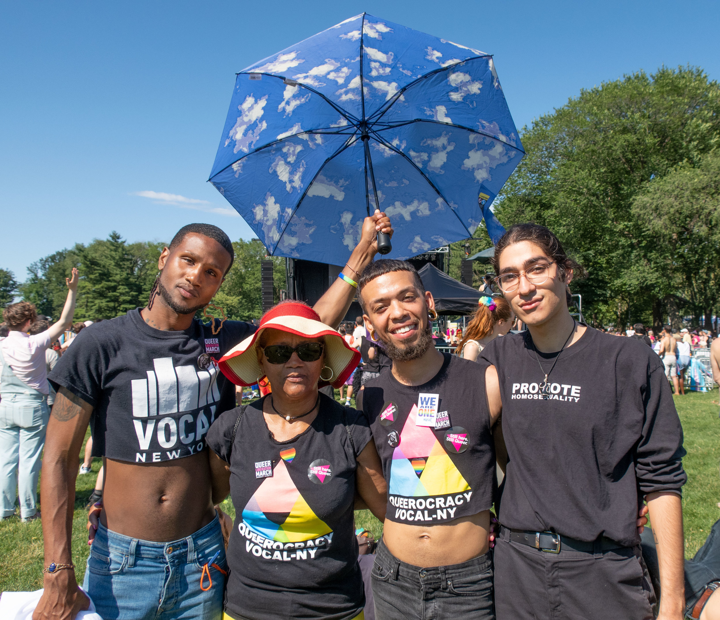 Group with Umbrella - Photo: Dave Johnson