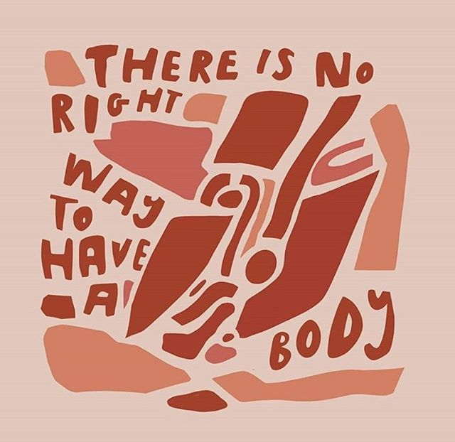 And don't let anyone tell you differently. We love this artwork by @onbeinginyourbody