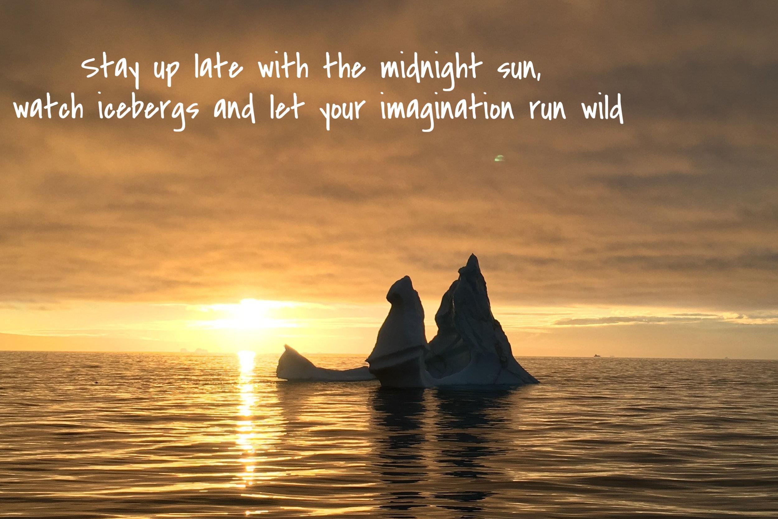 Iceberg Midnight Sun