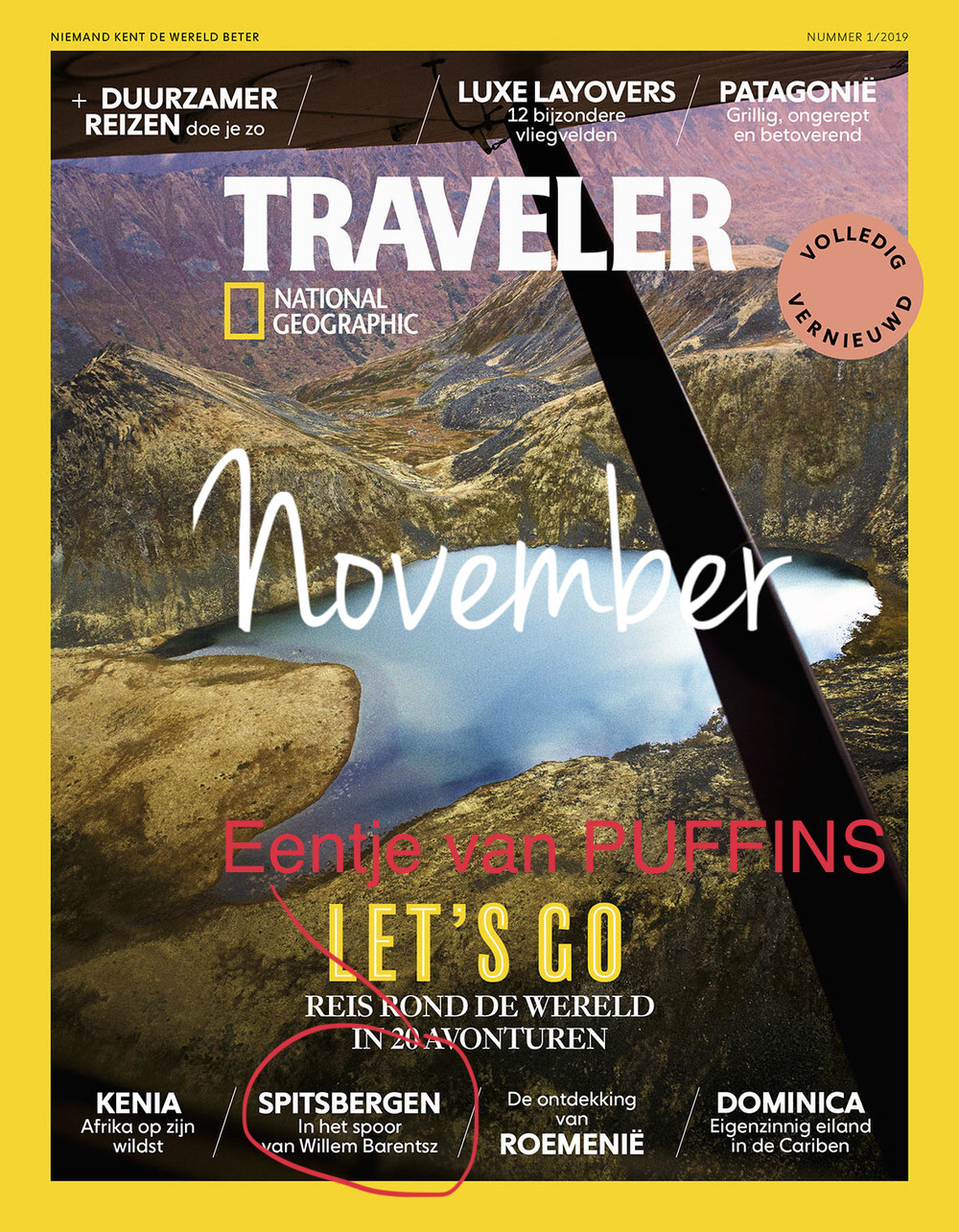 In November, journalist Frits Meyst let us know we made it to  National Geographic Traveler  with our story from Spitsbergen. This is our fourth major publication. Not too bad for a young puffling!