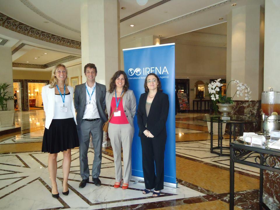 Sofie als deel van de Belgische delegatie bij de oprichting van IRENA (International Renewable Energy Agency, 2009)