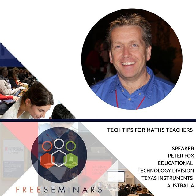 """Join Peter Fox, Educational Technology Specialist from Texa Instruments for his FREE seminar session, """"Tech tips for maths teachers."""" Peter will take participants on a tour of relevant applications, programs, online resources and robots that can be used to enhance teaching and learning in the Mathematics classroom. Every mathematics teacher will find something to take away and implement in the classroom.  Takes place as part of the Free Seminar Program at @theedushow, on this Friday and Saturday at the Melbourne Convention and Exhibition Centre. Free tickets via link in bio #theedushowau . . . . . . . . . . . . . #techtips #classroomresources #technologyforschools #nesmelbourne #nesmel2019 #robots #maths #mathsteacher #classroomtechnology #australia #melbourne #schools #teachers #melbourneteachers #victeachers #aussieteachers #teacherinspo #freeexpo #teacherevent #pdhours #schoolresources #seminars #education #australianschools #technology"""