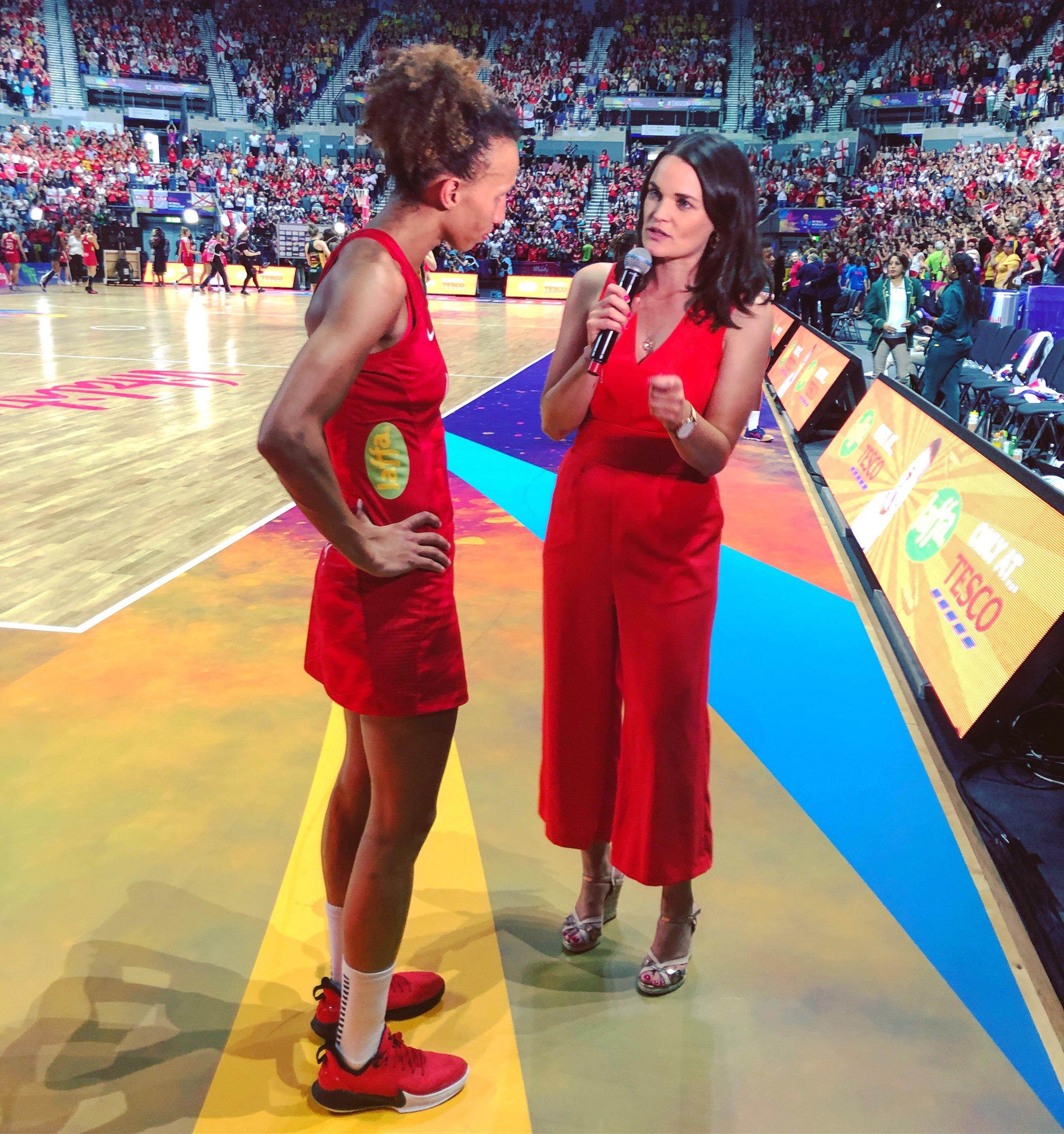 Interviewing England captain Serena Guthrie