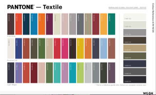 (AW 19/20 Pantone referenced palette by WGSN: Further  trend information  and  access to WGSN  is available via Textiles Scotland Membership)