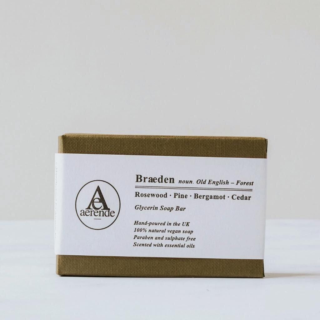 Aerende, Glycerin Soap – Pine, Bergamot & Cedar,  £11.00,  Buy now