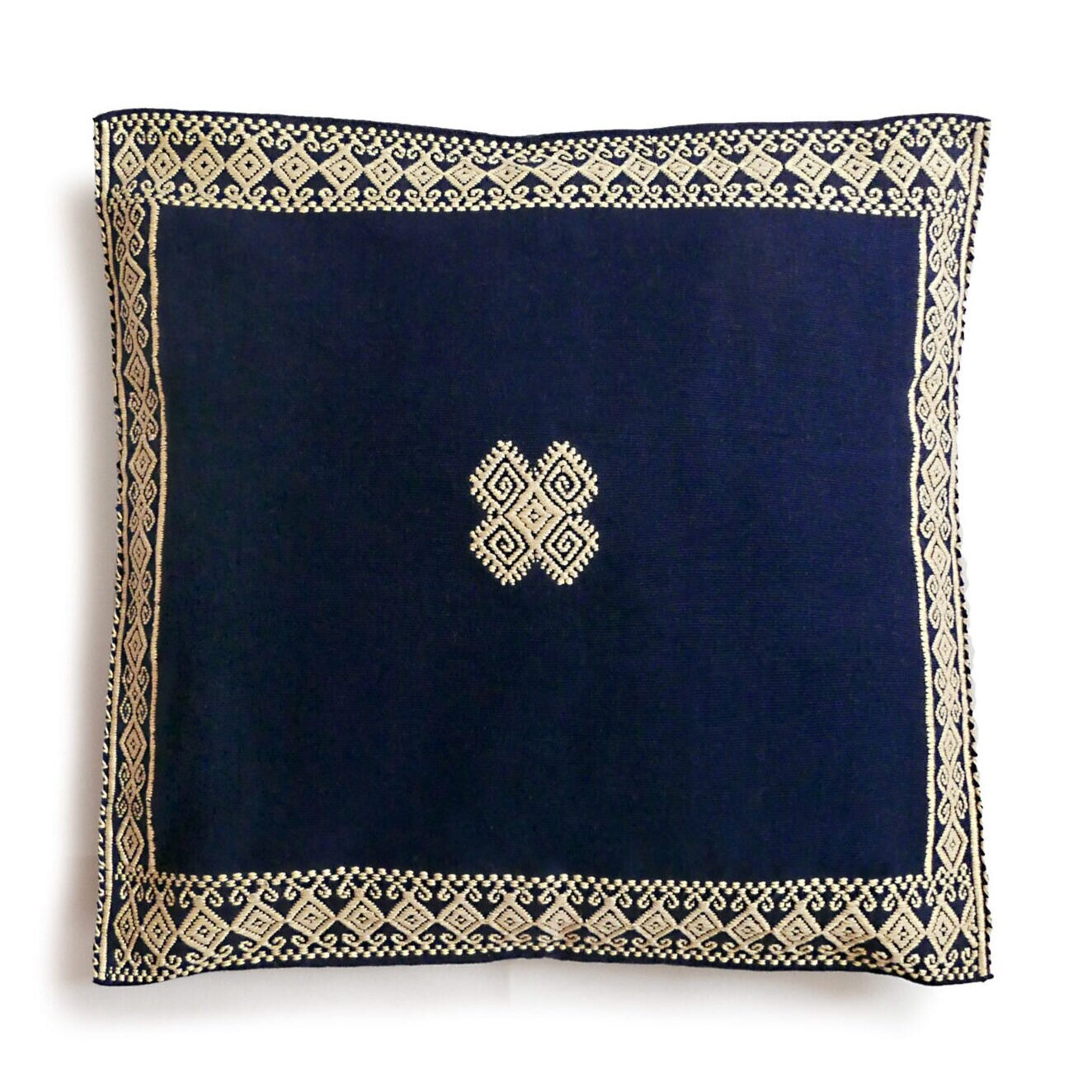 Nido Collective Navy San Andres Cushion,  £40,  Buy now
