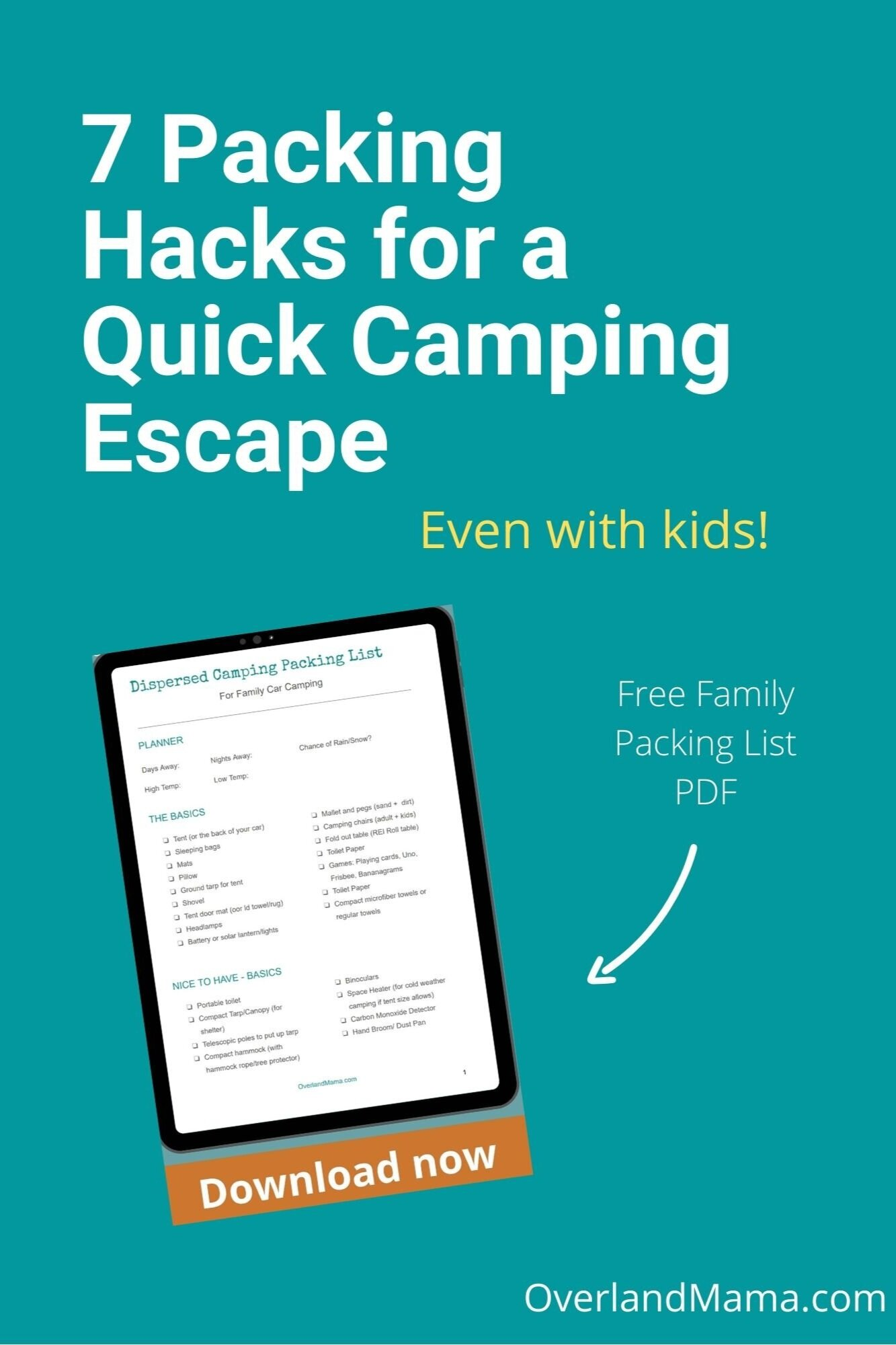 7 Easy Ways To Pack Quickly For Family Camping Overland Mama