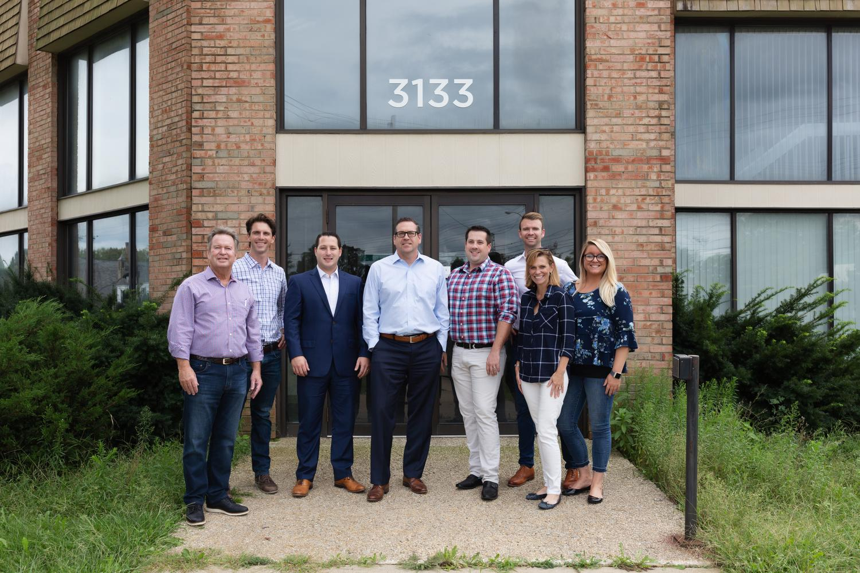 The PLK Team: Alex Birdsall (3rd from Left), Matt Weis (4th from left) & Nick Lingenfelter (4th from Right)